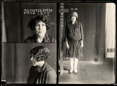 collection of vintage mug shots