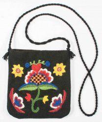 Blomma med hjärta - väska från Hemslöjden i Skåne