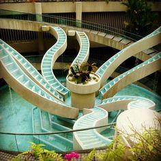 Marina Square Water Staircase, Singapore