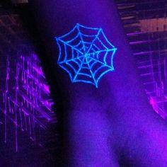 Spider Webs UV Ink Tattoo Designs