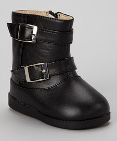 Black Buckle Boot- My LO will love this: looks like Darth Vader's boots and The Lone Ranger's.
