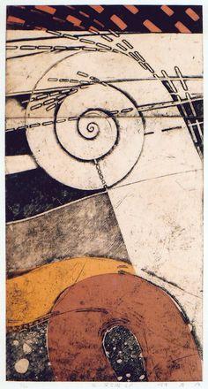 Takahiko Hayashi ~ 92-5P, 1992 (etching, chine collé)