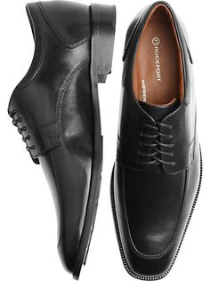Shoes - Rockport Black Moc Toe Dress Shoes - Men's Wearhouse