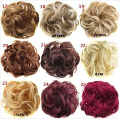 Pony Tail Hair Extension Bun Hairpiece Scrunchie Elastic Wave Curly Synthetic hairpieces Scrunchie Wrap For Hair Bun Chignon