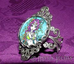 Myka Jelina art | Details about Gothic Tropical Mermaid RING Myka Jelina Faery Art Lyra
