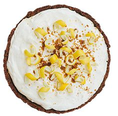 MELLOW YELLOW - Lemmon chiffon pie with ginger snap crust @ emporiumpies.com/