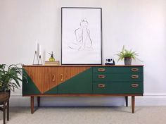 [New] The 10 All-Time Best Home Decor (Right Now) - Home Decor by Georgetta Coole - Shop Vintage Link in bio This beaut Schreiber sideboard is in my Etsy shop now! Diy Furniture Renovation, Refurbished Furniture, Upcycled Furniture, Vintage Furniture, Painted Furniture, Home Furniture, Retro Furniture Makeover, Vintage Wood, Furniture Projects