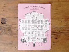 結婚式ペーパーアイテム -席次表- wedding paper item -seat map-