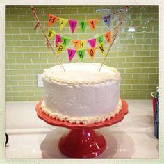 Birthday Cake Bunting, Happy Birthday- Wee Warhols