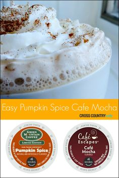 Make Pumpkin Spice Cafe Mocha easily in your own home using your Keurig brewer. The unique combination of Pumpkin Spice and Cafe Mocha Kcup pods leaves you with a barista quality coffee indulgence. Pumpkin Coffee Recipe, Pumpkin Spice K Cups, Spiced Coffee, Coffee Coffee, Coffee Enema, Coffee Pods, Pumpkin Recipes, Morning Coffee, Coffee Shop
