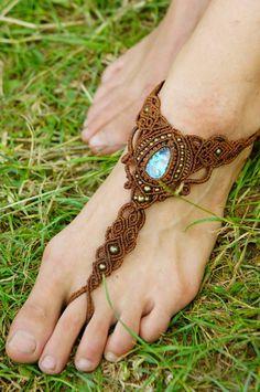Micro macrame transformig necklace barefoot by DancingDakiniWear