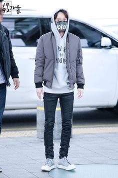 150114- EXO Chen (Kim Jongdae); Incheon Airport to Beijing Airport #exom #fashion #style