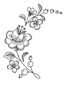 It's pretty – Embroidery Desing Ideas Embroidery Flowers Pattern, Crewel Embroidery, Hand Embroidery Designs, Flower Patterns, Beading Patterns, Wood Burning Patterns, Native Beadwork, Parchment Craft, Flower Doodles