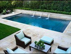 Backyard Pool Designs, Small Pools, Small Backyard Landscaping, Swimming Pools Backyard, Backyard Retreat, Swimming Pool Designs, Backyard Patio, Outdoor Pool, Swimming Pool Tiles