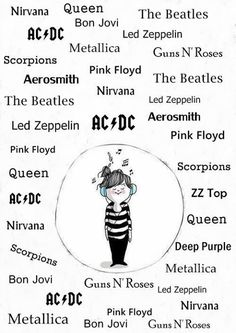 nirvana acdc aerosmith scorpions led zeppelin queen