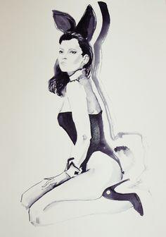 #katemoss#playboy#fashionillustration#fashion#fashionbook#sketch#fashionsketch#drawing#ink#painting#art#artpiece#artist#fashionillustrator#workart#workinprogress#instaart#instafashion#fashiondraw#dailyart#ladyterezie#lublin#hot#bunny#polishart#bunnyears#pencil