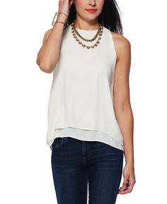 Abbeline Inverted Sheer Back Top- The perfect, most flattering, layering blouse by Abbeline. Price-$78.00