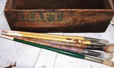 Art Artist Painting Brushes Vintage Lot of by SheCollectsICreate