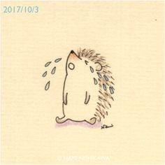 1297 はりこ泣いてる #crying 中の人、頭痛くて泣いてます。 ★にしかわなみ個展★ 「うれしいの気持ち、たのしいの気持ち4」 @大阪西天満雑貨店カナリヤ 10月6日(金)まで http://namiharinezumi.com/news/index.html