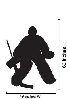 Vinyl Wall Decal Sticker Hockey Player Goalie 5ft by Stickerbrand, $29.95