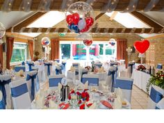 Wedding Decoration - Balloons - Love the little balloons in the big balloons - can use theme colours