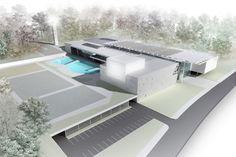 Concurso de Propostas Arquitetônicas para o futuro SESC Guarulhos, 1º lugar. Arquitetos Renato Dal Pian e Lilian Dal Pian<br />Desenho do escritório