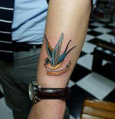 A swallow tattoo
