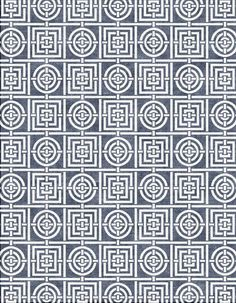 Circles & Squares Dusty Blue - Florence Broadhurst Cadrys Contemporary