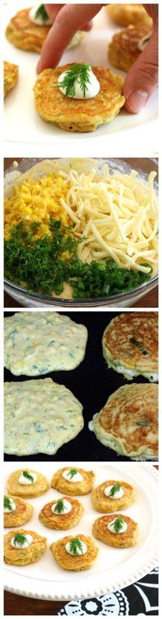 Havarti Dill Corn Cakes.  Southern comfort never tasted so good! #castellohavarti @castellousa daringgourmet.com