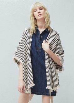 Capa algodón rayas | MANGO