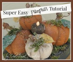 Super Easy Pumpkin Tutorial