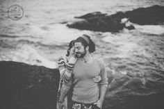 Black and white photo of a beautiful couple posing on the coast of Maine by @billiejojeremy. #Maine #acadianationalpark #Husbandandwife #destination #photographers #adventurousphotographers #couples #portraits #lifestyle #photographers #vsco
