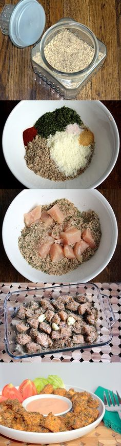 Baked Chicken Nuggets (Chicken Scampi) Low-Carb/Gluten-free Version - check out and add to meal plan Low Carb Recipes, Cooking Recipes, Healthy Recipes, Top Recipes, Amazing Recipes, Sin Gluten, Baked Chicken Nuggets, Chicken Bites, Do It Yourself Food