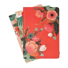 Great notepads! Rifle Paper Co. Botanicals Notebook Collection: $12.95; Chronicle Books and Rifle Paper Co.