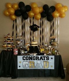 High school graduation is a significant milestone in the life span of a teen. High school graduation comes just once in someone's life. High school graduation comes at a critical time in an i… Grad Party Decorations, Graduation Party Centerpieces, Graduation Party Planning, College Graduation Parties, Graduation Party Decor, Graduation Table Decorations, Graduation Banner, School Decorations, Grad Parties
