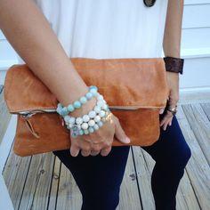 Mercantile - Ceri Hoover Leather Clutch - Camel