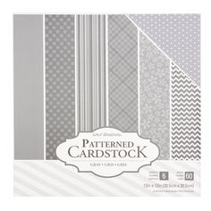 """Core'dinations 12"""" x 12"""" Patterned Cardstock 60 Pack - Gray"""