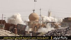 A photo posted by ISIS that shows the destruction of a Shiite religious site. Photo: via Hyperallergic.