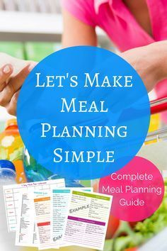 Let's make meal planning simple. Learn how to meal plan in 5 easy steps! #affiliate