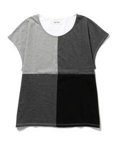 Ray BEAMS - ALOYE / スクエア Tシャツ