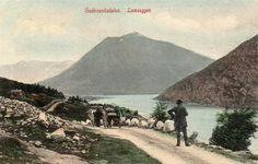 Oppland fylke Lom kommune Lomseggen kolorert Brukt 1918