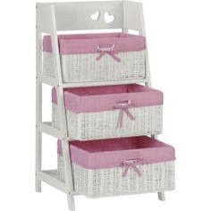 Buy Mia 3 Bin Storage Unit with Baskets at Argos.co.uk - Your Online Shop for Children's toy boxes and storage.