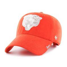 6701a1574 Chicago Bears Women s Orange Sparkle Adjustable Cap by  47  ChicagoBears   Bears  DaBears