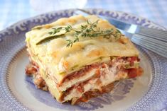 Zucchini lasagne with minced beef, ricotta, parmesan and mozzarella