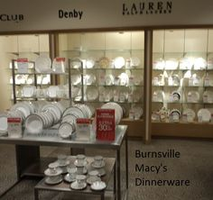 Come see the variety of dinnerware available in our store