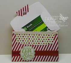 Debbie's Designs: Envelope Liner Gift Card Holder!