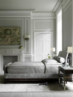 Absolute luxury in a bedroom with the Gracie Bed designed by Bill Sofield for the Baker collection.