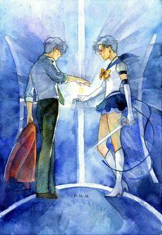 Accepting fate..Haruka Tenoh, Eternal Sailor Uranus