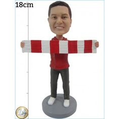 Football Fan Scarf Tight   fansfoot.com/store Your Fansfoot Custom Figurine is entirely hand-made and produced exclusively for you. Your Bobblehead is a true work of art from 16 to 18 cm in height and around 500g.  The head is created according to your photographs by artists.