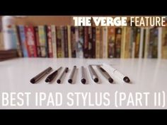 Ellis Hamburger takes another look at some of the most popular and interesting iPad styli.      Read the full article here:  http://www.theverge.com/2012/4/10/2925937/best-stylus-ipad-review      See Part 1 here:  http://www.youtube.com/watch?v=eEjhzOgx-j8      Jump to a stylus:    Monoprice 8843  http://youtu.be/ZmSrqqHPP1M?hd=1=19s    Pogo Sketch+ from Ten ...
